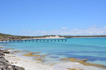 inbjudande vatten på Kangaroo Island
