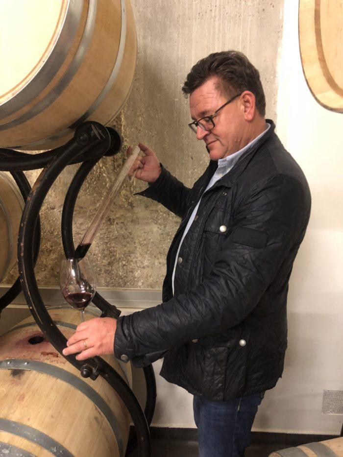 Fatprovning i Ribera del Duero av vårt vin Éxzito 2016...som redan smakade fantastiskt bra. Om ett år levereras vinet och ingen blir besviken..