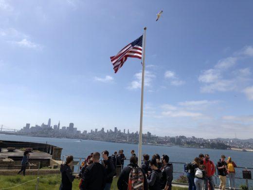 Bild över San Francisco från fängelseön Alcatraz