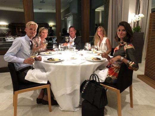 Fantastisk middag hos Martin Berasategui i Lasarte-Oria utanför San Sebastian med familjen