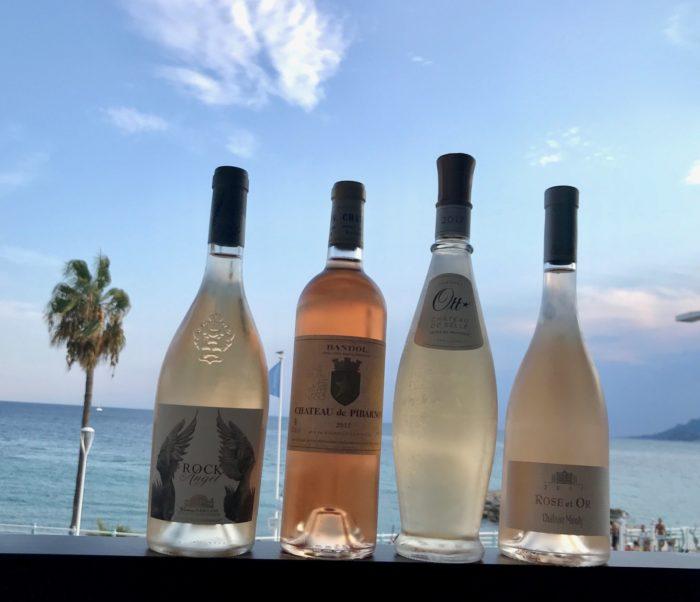 Lite prestige-roséer på altanen i Cannes