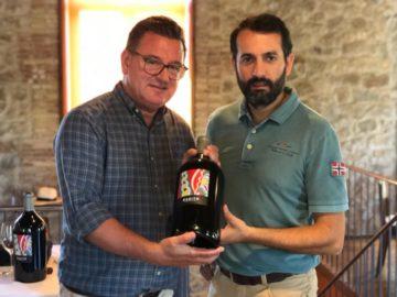 Till lunchen i Ribera del Duero drack vi två 3 liters buteljer av ljuvliga Éxzito 2015 som vinmakaren Felipe Castrillo gjort.