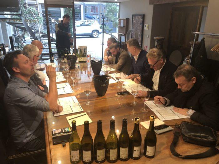 """Intensivt provande hos Maison Chapoutier i Tain l´Hermitage av närmare 25 viner varav två """"hundra poängarna"""" L´Orée samt Le Pavillon från Hermitage"""