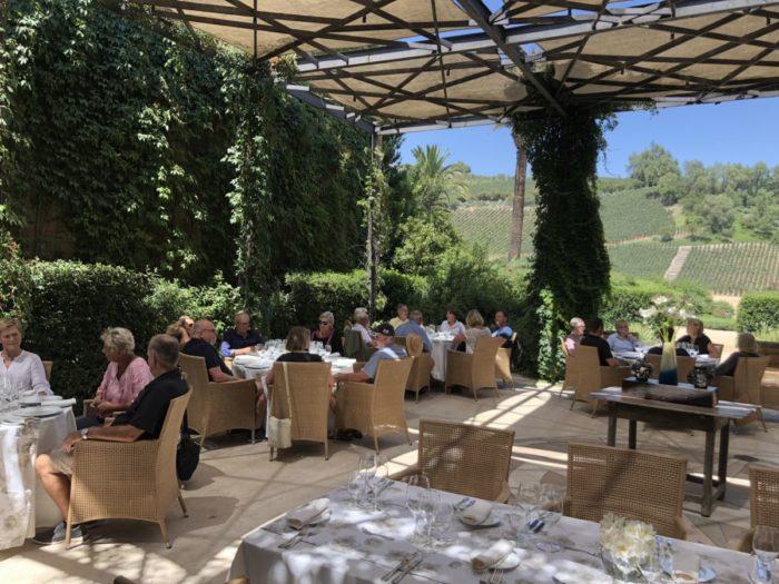 Avslutande fin provning och lunch på vingården Errazuriz i Aconcagua Valley - Chile