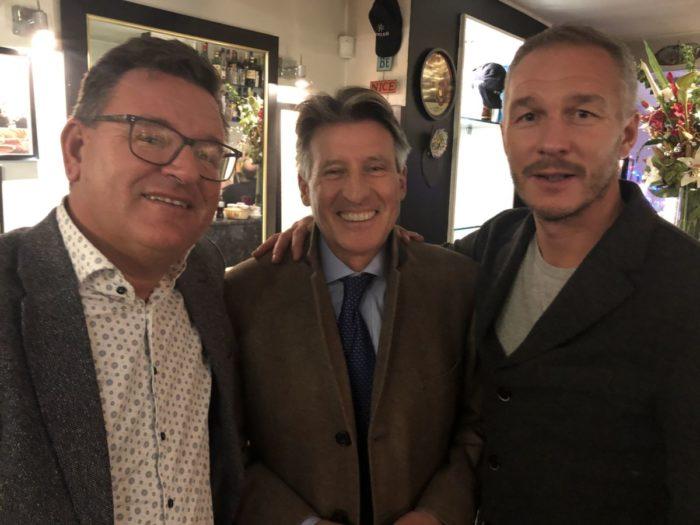 Jag och Patrik Andersson stötte på legenden Sebastian Coe i London