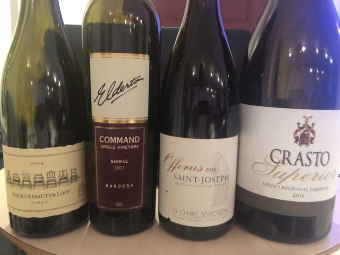Viner på vinkursen på Jacob Hansens Hus i tisdag med tema på Syrah/Shiraz druvan
