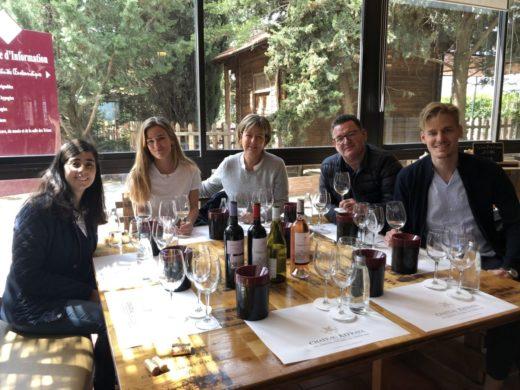 Trevligt vinbesök på Chateau Kefraya i Bekaa-dalen