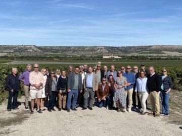 Hela gruppen samlad på Abadia Retuerta i Sardon del Duero